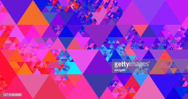 abstract geometric triangle background - geometric stock pictures, royalty-free photos & images
