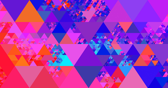 Abstract geometric triangle background - gettyimageskorea