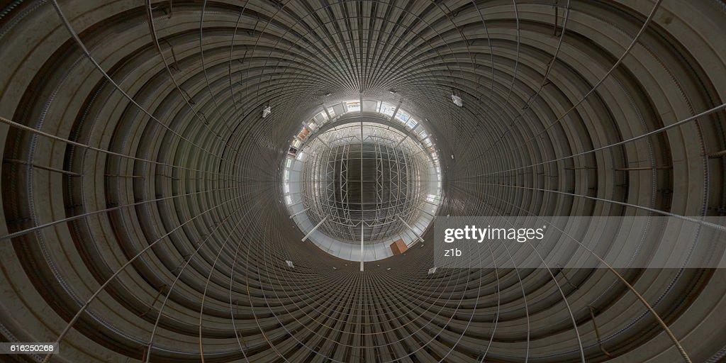 Abstract geometrical gackground of indoor construction site : Foto de stock