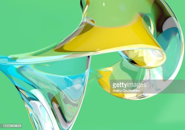 abstract glass shape - lightweight stock pictures, royalty-free photos & images