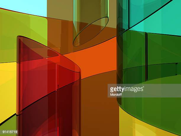 Abstract glassy background