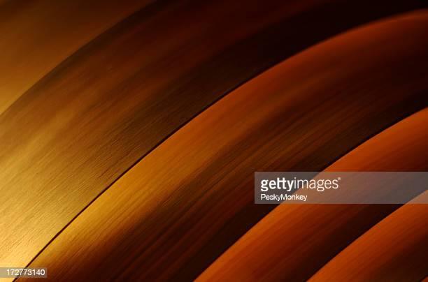 抽象的な輝きのある木製カーブ