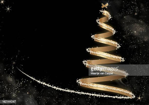 Abstract Golden Christmas Tree -