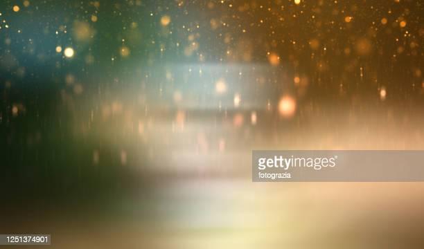 abstract golden green gradient background - 火花 ストックフォトと画像