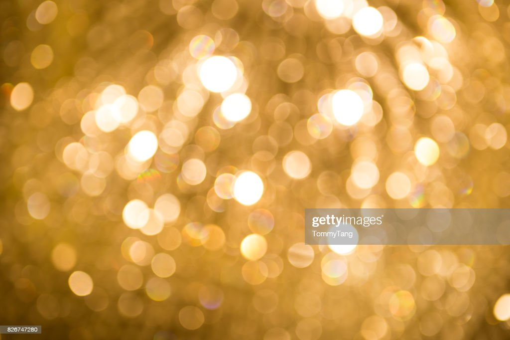 Abstract golden light bokeh background : Stock Photo