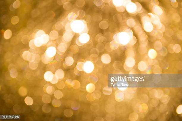 Abstract golden light bokeh background