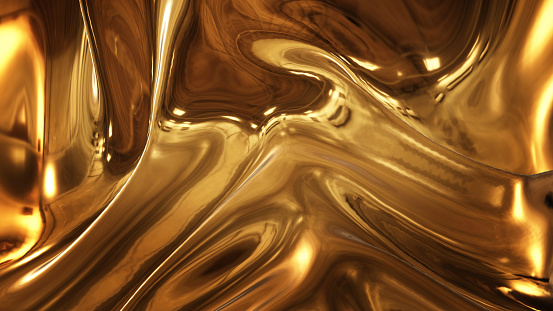 Abstract golden liquid smooth background with waves luxury. 1136737599