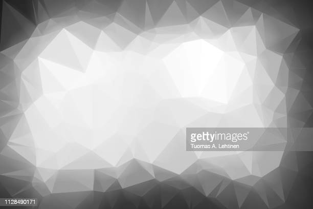 abstract gray low poly background - elemento de desenho - fotografias e filmes do acervo