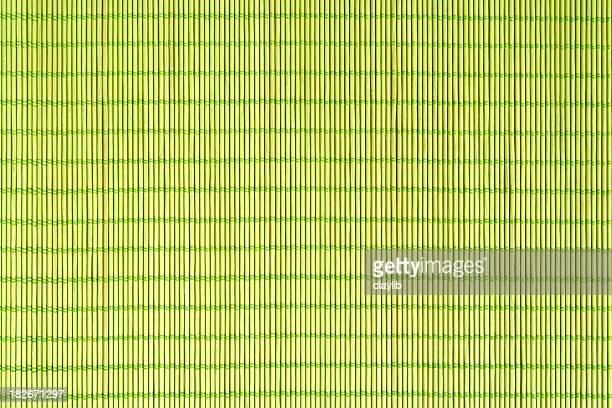 abstract green cane matting