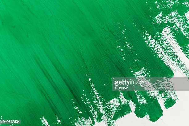 abstract green paint brush - aaien stockfoto's en -beelden
