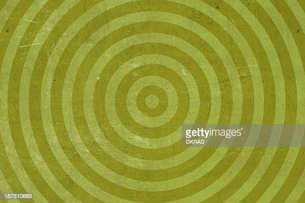Abstract Green Washed-out bullseye Target Background