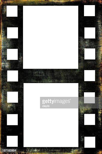 abstract grunge film style frame with clipping paths - unbroken film stock pictures, royalty-free photos & images