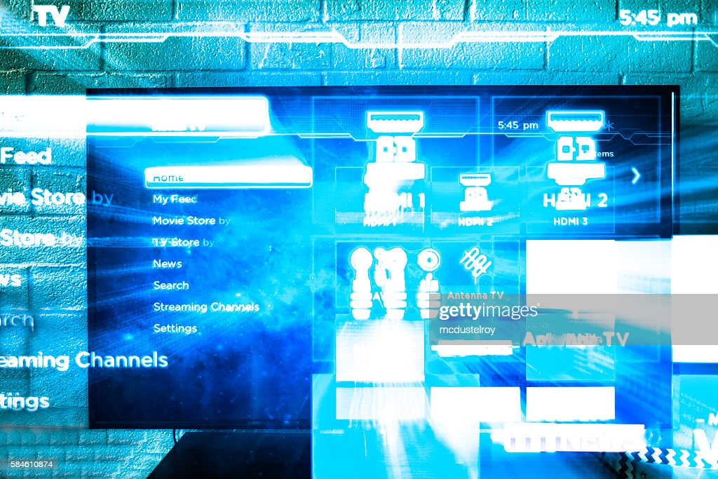 Abstract Hd Tv Zoomed In With Blue Tint Stock Photo Getty Images