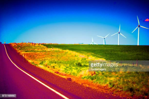 Abstract highway in rural setting