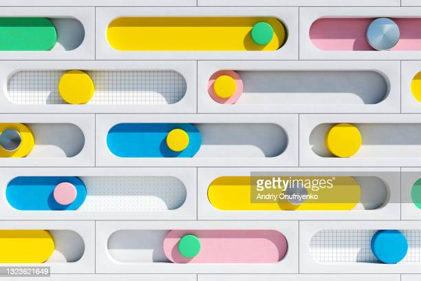 abstract horizontal bar graph. - business stock pictures, royalty-free photos & images