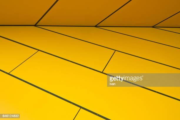 Abstract Horizontal Line with Yellow Background