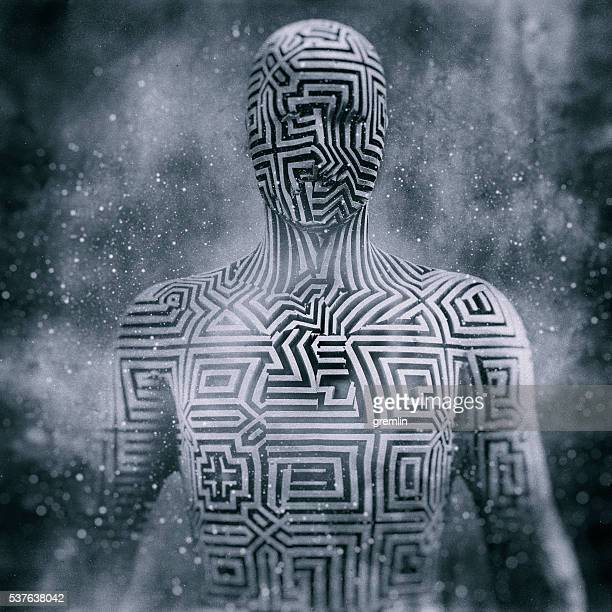 Abstract humanoid shape, cyborg, avatar
