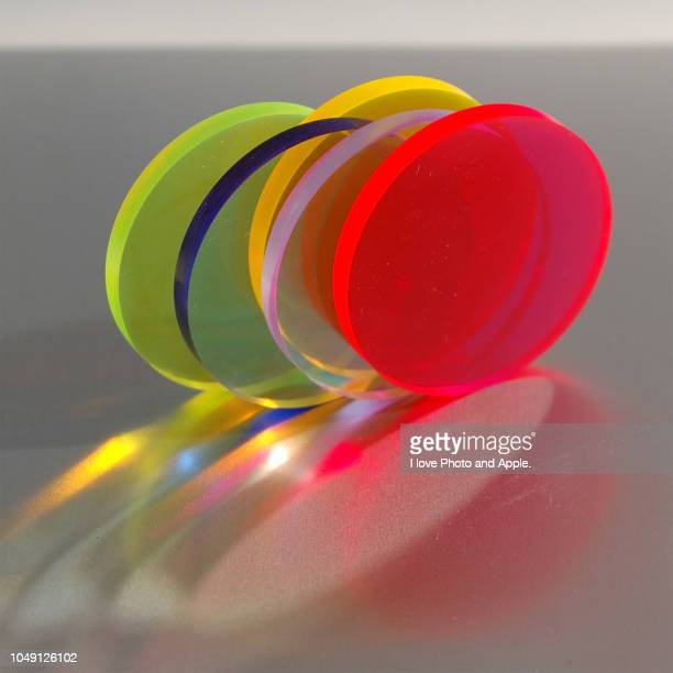 abstract image, disc free action - アクリル ストックフォトと画像