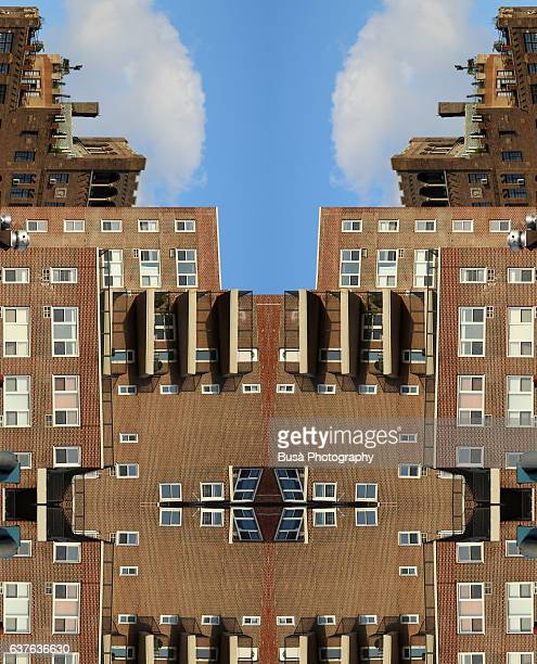 Abstract image: kaleidoscopic image of a residential building in Manhattan, New York City