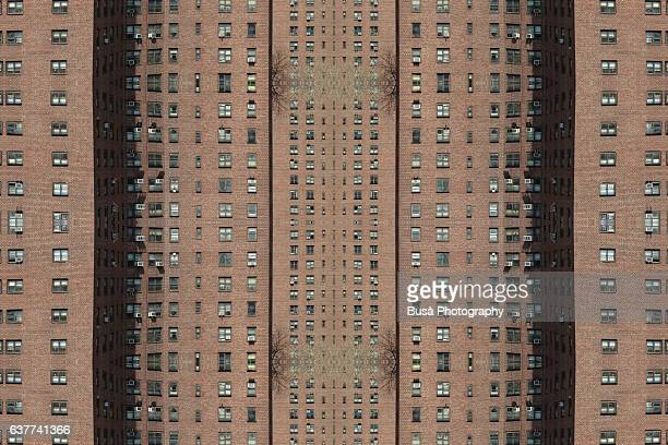 Abstract image: kaleidoscopic image of public housing project in New York City, USA