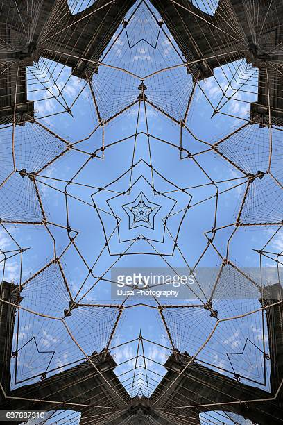 Abstract image: kaleidoscopic image of the Brooklyn Bridge, New York City, USA