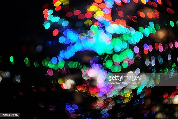 Abstract Image Of Illuminated Lights Defocused At Night