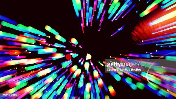 Abstract Image Of Multi Colored Lights At Nightclub
