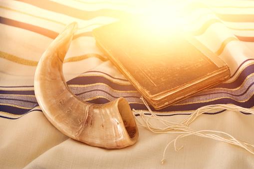 Abstract image of Prayer Shawl - Tallit, jewish religious symbol 836240646