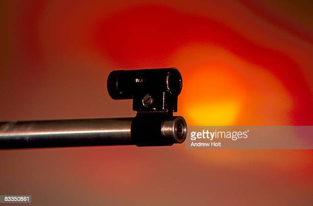 Abstract image of target rifle sight aiming at tar