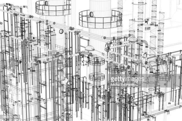 Abstract industrial, technology background. Engineering, factory