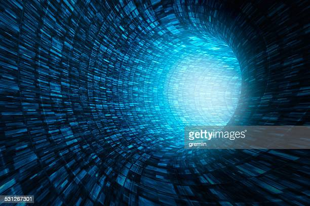 abstract information tunnel - data flow stock photos and pictures