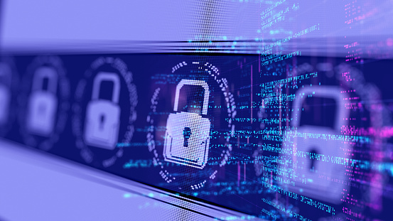 Abstract Internet Network Cyber Security concept 1060849996