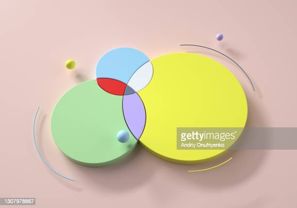 abstract intersected circular shaped chart - part of stock pictures, royalty-free photos & images