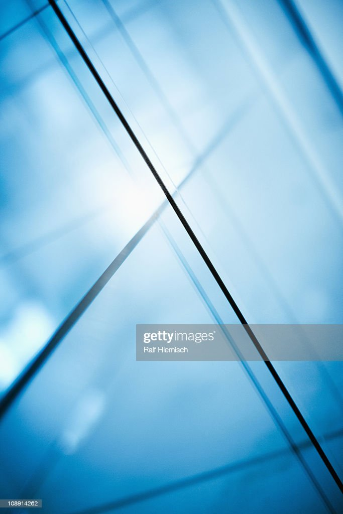 Abstract intersecting lines on a glass surface : Stock Photo