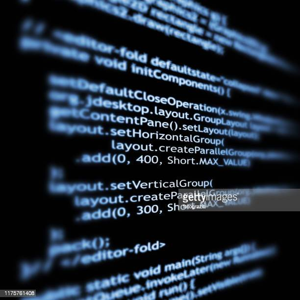 abstract it technology background. software source code. - java stock pictures, royalty-free photos & images