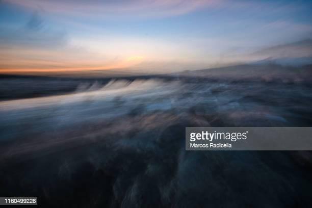 abstract lake and sky background - radicella stockfoto's en -beelden
