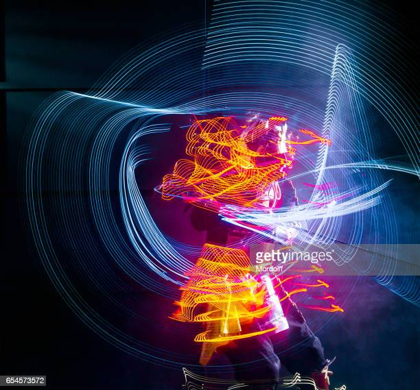 Abstract LED Picture Blurred Lines