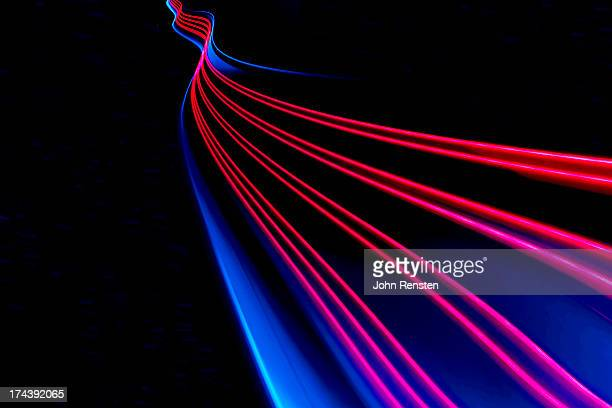 abstract light and heat trails