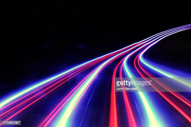 abstract light and heat trails - light trail stock pictures, royalty-free photos & images