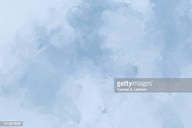 abstract light blue and grayish oil painting background with brush strokes. - 油絵 ストックフォトと画像