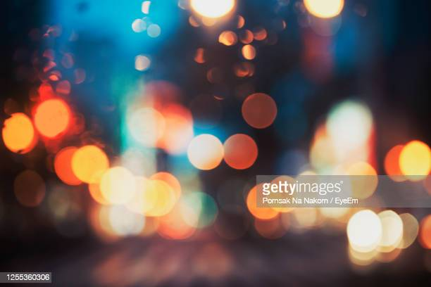 abstract light bokeh as background - illuminated stock pictures, royalty-free photos & images