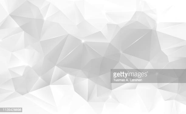 abstract light gray low poly background - elemento de desenho - fotografias e filmes do acervo