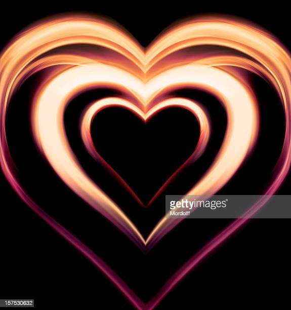 Abstract light heart