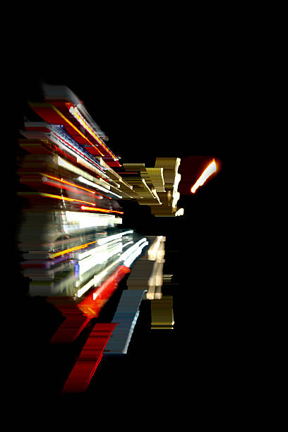 Abstract Light Painting Resembling Digital World Wall Art