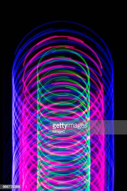 abstract light trail - spiral stock pictures, royalty-free photos & images