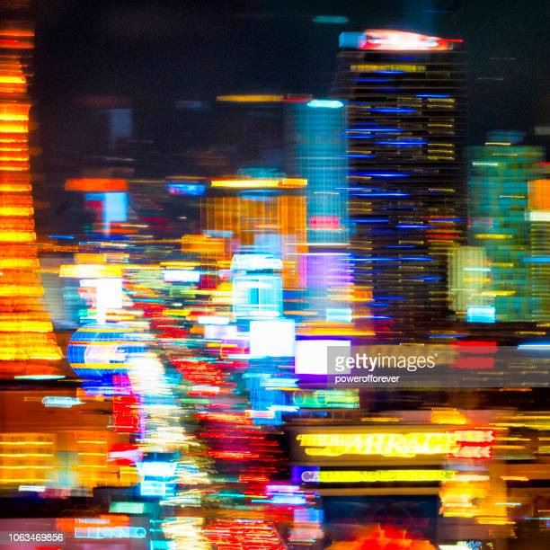 Abstract Lights of The Strip in Las Vegas, Nevada, USA