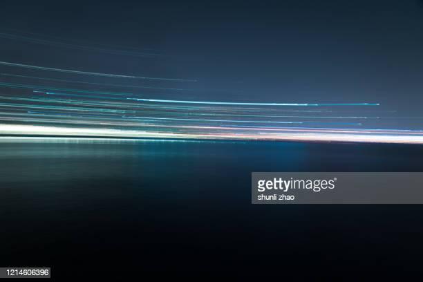 abstract lights speed motion - lineart stock-fotos und bilder
