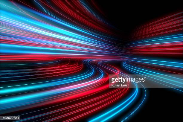 abstract lights speed motion - light trail stock pictures, royalty-free photos & images
