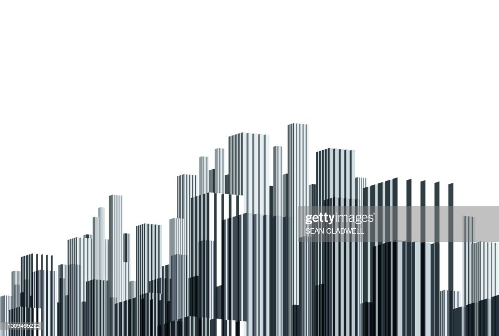 Abstract line art skyscrapers : Stock-Foto