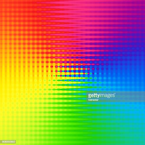 Motif abstrait arc-en-ciel spectre fond lignes
